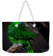 The Parrot Fractal Weekender Tote Bag