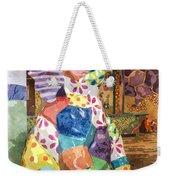 The Patchwork Elephant Art Weekender Tote Bag