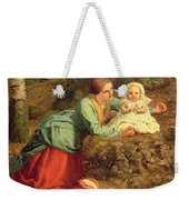 The Path Where The Brown Leaves Are Spread Weekender Tote Bag