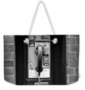 The Payphone - Black And White Weekender Tote Bag