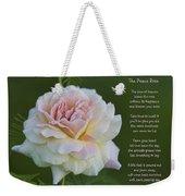 The Peace Rose Weekender Tote Bag