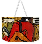 The Piano Lady Weekender Tote Bag