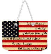The Pledge Of Allegiance Weekender Tote Bag