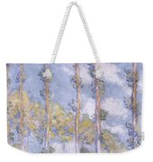 The Poplars Weekender Tote Bag by Claude Monet