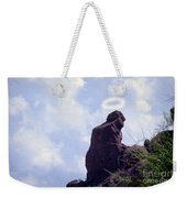 The Praying Monk With Halo - Camelback Mountain - Painted Weekender Tote Bag