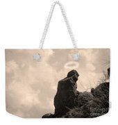 The Praying Monk With Halo - Camelback Mountain Weekender Tote Bag by James BO  Insogna