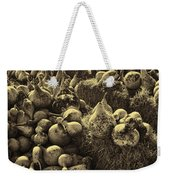 The Produce Of The Earth In Sepia Weekender Tote Bag