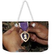 The Purple Heart Award Weekender Tote Bag