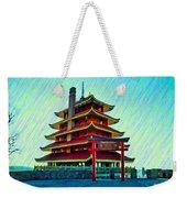 The Reading Pagoda Weekender Tote Bag