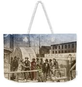 The Rescue Of Jane Johnson And Her Weekender Tote Bag by Photo Researchers