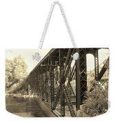 The Retired Railroad Bridge Weekender Tote Bag
