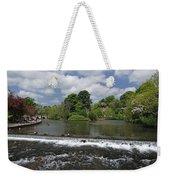 The Riverside And Weir - Bakewell Weekender Tote Bag