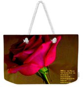 The Rose And Thorn Weekender Tote Bag