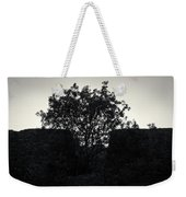 The Ruins Of The Castle Of Ali Pasha In Bw Weekender Tote Bag