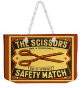 The Scissors Safety Match Weekender Tote Bag