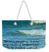 The Sea Poster Weekender Tote Bag