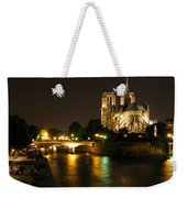 The Seine And Notre Dame At Night Weekender Tote Bag
