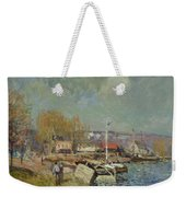 The Seine At Port-marly Weekender Tote Bag by Alfred Sisley