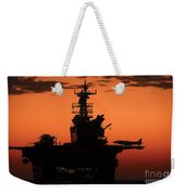 The Setting Sun Silhouettes Weekender Tote Bag