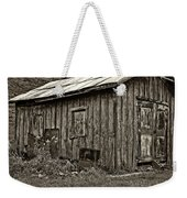 The Shed Sepia Weekender Tote Bag by Steve Harrington
