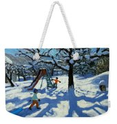 The Slide In Winter Weekender Tote Bag by Andrew Macara
