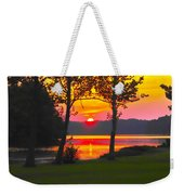 The Smiling Face Sunset Weekender Tote Bag