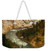 The Snaking Yellowstone Weekender Tote Bag