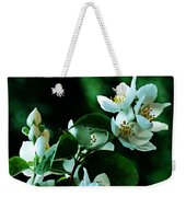 The Soft White Blossom  Weekender Tote Bag