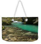 The Soteska Vintgar Gorge In Autumn Weekender Tote Bag