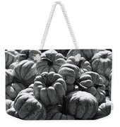 The Squash Harvest In Black And White Weekender Tote Bag