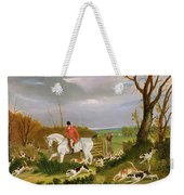 The Suffolk Hunt - Going To Cover Near Herringswell Weekender Tote Bag