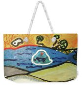 The Sun And A Boat Painting Weekender Tote Bag