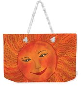 The Sun God Detail Of Red Sky At Night Weekender Tote Bag