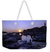 The Sun Goes Down In Rovinj Weekender Tote Bag