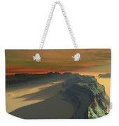 The Sun Sets On This Desert Landscape Weekender Tote Bag