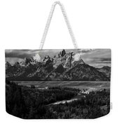 The Tetons - Il Bw Weekender Tote Bag