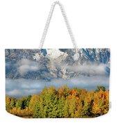 The Tetons In Autumn Weekender Tote Bag