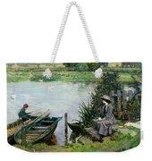 The Thames At Benson Weekender Tote Bag
