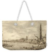 The Thames Looking Towards Westminster From Near York Water Gate  Weekender Tote Bag by Giovanni Antonio Canaletto