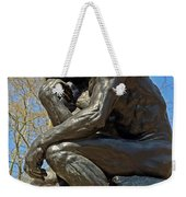 The Thinker By Rodin Weekender Tote Bag