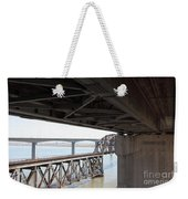 The Three Benicia-martinez Bridges In California - 5d18844 Weekender Tote Bag