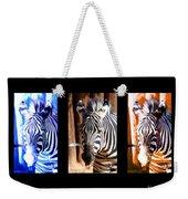 The Three Zebras Black Borders Weekender Tote Bag