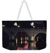 The Tiber River And The Dome Of St Weekender Tote Bag
