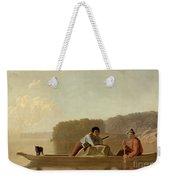 The Trapper's Return Weekender Tote Bag by George Caleb Bingham