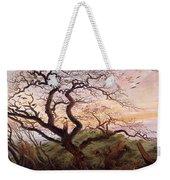 The Tree Of Crows Weekender Tote Bag by Caspar David Friedrich