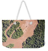 The Turbid Ituri River Channels Its Way Weekender Tote Bag