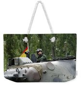 The Turret Of The Leopard 1a5 Mbt Weekender Tote Bag by Luc De Jaeger