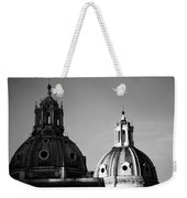 The Twin Domes Of S. Maria Di Loreto And Ss. Nome Di Maria Weekender Tote Bag