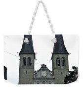 The Twin Spires Of Hof Church In Lucerne Weekender Tote Bag