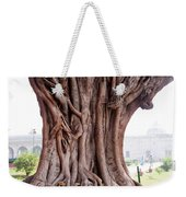 The Twisted And Gnarled Stump And Stem Of A Large Tree Inside The Qutub Minar Compound Weekender Tote Bag